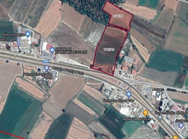 Seydikemer Uğurlu' da İmar Aşamasında Satılık 24.641,69 m2 Yola Sıfır Arazi