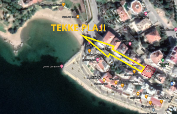 Çeşme' de Ticari Ve Konut İmarlı(Bodrum+3 Kat) Tekke Plajına Yürüme Mesafesi Satılık Gayrimenkul