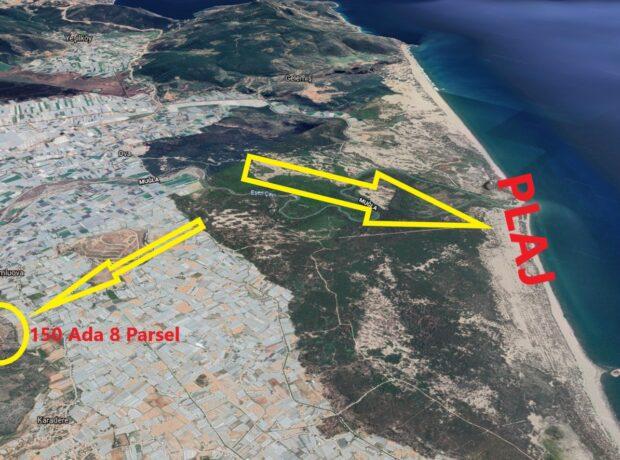 Kumluova' da Tamamen Deniz Manzaralı Otel, Hastane, Villa Veya Konut Sitesi Yapmaya Uygun Arsa